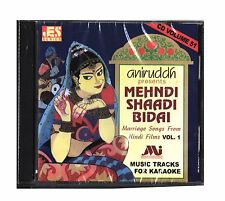 Hindi Karaoke CD Mehndi Shaadi Bidai Marriage Songs Hindi Films Vol 1 Aniruddh