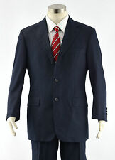 HUGO BOSS Men's Navy Blue ANGELICO PARMA 3/2-Btn Slim Fit Cotton Summer Suit 36S