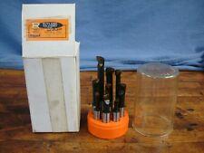 "Rutland Tool & Supply 9pc Carbide Tipped  Boring Set, #441006, 1/2"" shank"