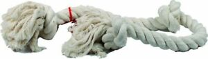 """LM Flossy Chews 3 Knot Tug Toy Rope for Dogs - White X-Large (36"""" Long)"""
