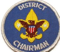 Vintage Boy Scout District Chairman Patch