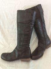 Fly London Brown Knee High Leather Boots Size 38