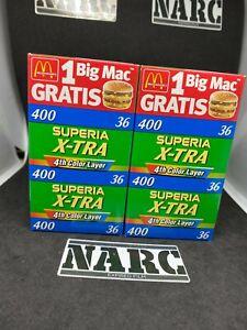 6 x Fujifilm Superia X-TRA 400  4th color layer 35mm expired film analog film