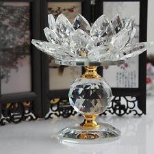 Kristallglas Lotus Kerzenhalter Teelichthalter, Hochzeit Fest Dekor Weiß