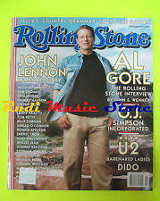 ROLLING STONE USA MAGAZINE 853/2000 Al Gore John Lennon Nelly Ed Robertson No cd