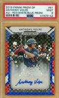 2019 Panini Prizm Draft Anthony Volpe AUTO Red White Blue #/99 PSA 9 MINT