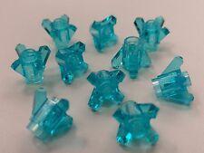 Bulk Lot Lego Part No.11127 Trans-Light Blue Rock 1x1 Crystal 4 Point, Qty x 10