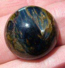 Real African PIETERSITE 20mm Round Cabochon  26 carats  chatoyancy Chatoyant