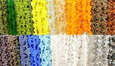 Tschechische Glasperlen PIP Beads Blättchen MIX bunt 5x7mm 500 Stück, 10 Stränge