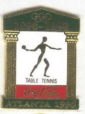 1996 ATLANTA SUMMER OLYMPIC COCA COLA TABLE TENNIS PICTOGRAM PIN