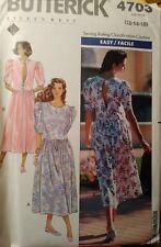 UNCUT Butterick 4703 Eileen West Easy Drop Waist Dress, sizes 12 14 16