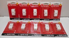 Lot of 10 White Inline Wire Cord Lamp Switches for 16 or 18 Gauge SPT-2  6A-125V