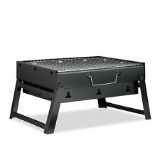 Folding Camping Barbecue Grill, Foldable BBQ for 4, Briefcase, Balcony, Picnic
