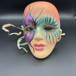 4-Inch 3dRose ct/_37256/_1 Red and Gold Vintage Mardi Gras Mask-Ceramic Tile