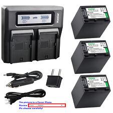 Kastar Battery Dual LCD Fast Charger for Sony DCR-DVD705 DCR-DVD708 DCR-DVD710
