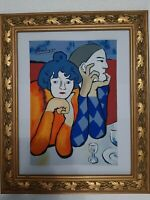 Pablo picasso a watercolor drawing on paper NOT FRAME