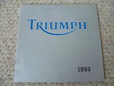 TRIUMPH Motorcycles 1993 #3860055 Motorcycle Sales Brochure