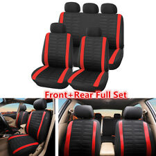 9Pcs/set 5-Seat Car Seat Cover Cushion Protector Front Rear Full Set Accessories