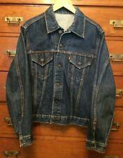 557XX  524 LEVI STRAUSS & CO Vintage Big E Original Trucker Denim Jacket (M)