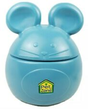 New listing Pet Zone Mouse Storage Bin Large Size Treats Cat Food Toys Container Blue Rare