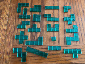 BLOKUS 2013 Game Replacement Parts Pieces Green TILE PIECE Set  20/21 Missing 1
