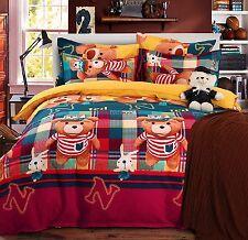 Set Letto Copri Piumone Lenzuolo Federe Copripiumone Duvet Cover Bed BED0024 P
