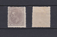 SPAIN 1879 King Alfonso XII 4 Pta lilac grey Mint * 250 (Mi.185)