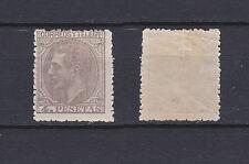SPAIN 1879 King Alfonso XII 4 Pta lilac grey Mint * 250 (Mi.185)