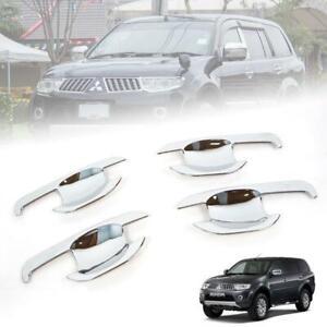 Chrome 4 Door Handle Bowl Insert Trim For Mitsubishi Montero/ Pajero Sport 08-13