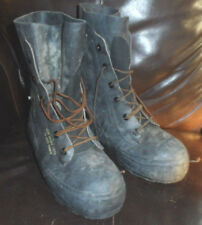 VINTAGE 1980'S BATA BLACK MILITARY AIRBORNE RUBBER LACE UP BOOTS -SIZE 6 R