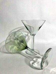 Hand Blown Martini Glasses from Guadalajara