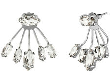 Rebecca Minkoff Pheonix Front Back Earrings color Silver NEW