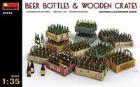 Beer Bottles & Wooden Cajones De Diorama Accesorios 1 :3 5 Plástico Modelo Kit