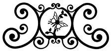 Butterfly Indoor Outdoor Over Door House Sign Black Wrought Iron Handmade in USA
