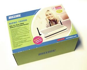 Billion Bipac 7800N Dual Wan ADSL2 Broadband Wireless N Gigabit Firewall Modem