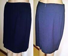 CARLA ZAMPATTI Size 10 Blue 100% Wool Crepe Corporate Skirt