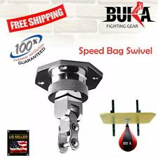 BUKA ® Silver Pro Bearing Steel Swivel Speed Ball Boxing MMA Punching Bag Kit