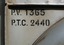 Citroen HY - Type H Citroen - Pochoir plaque de tare P.V. 1365