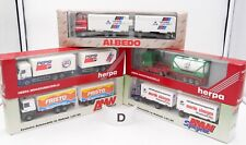 HERPA AMW ALBEDO HO 1/87 LOT #D - 5 x CAMIONS MAN DAF IVECO RENAULT