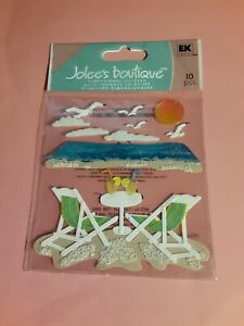 Jolee's Boutique beach leisure 3D sticker pkg(free ship $20 min US ONLY