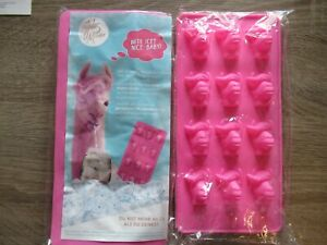 2 x Jules Mumm Eiswürfelform Silikon Lama neu pink