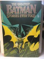 The Greatest BATMAN Stories Ever Told Vol 1 DC Comics TPB 1st Printing, 1988, VF