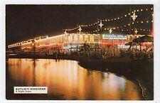 NIGHT SCENE, BUTLIN'S HOLIDAY CAMP, MINEHEAD: Somerset postcard (C13790)