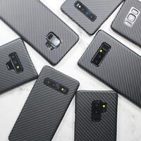 Ultra Dünn 100% Echt Aramid Faser Hülle Back Cover Case Harte Schale für SAMSUNG