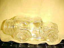 EAPG  CRYSTAL MODEL T  OR TOURING CAR CANDY JAR, NO LID, VERY CLEAN   66