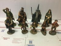"""Lord of the Rings Set of Nine Figurines by the Danbury Mint  10"""" Gandalf Aragorn"""