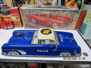 NIEDERMEIER GERMAN POLICE CAR IN BOX #470 FRICTION WORKS NEAR MINT 40s -50s RARE