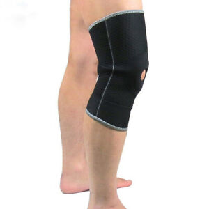 Knee Brace Pads Support Compression Sleeve Gym Arthritis Joint Pain Relief CB