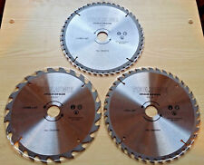 235mm TCT Circular Saw Blade 3 Pack 24T 40T 48T Coarse Medium Fine Finish