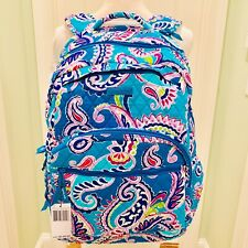 Vera Bradley Essential Large Quilted Backpack Waikiki Paisley Back To School Bag